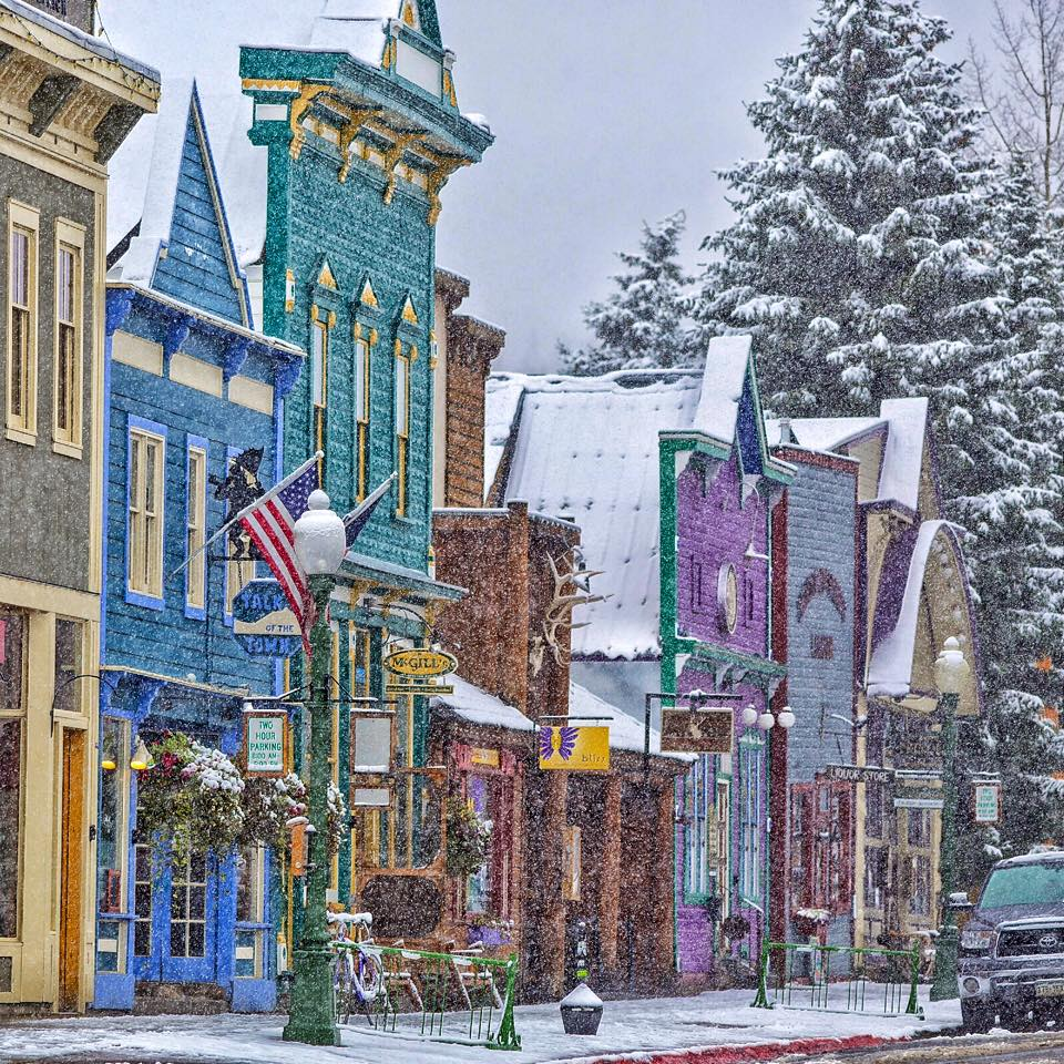 Romantic Winter Getaways in Colorado. Crested Butte in the snow