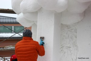 1st place Team Lithuania at the International Snow Sculpture Championships in Breckenridge, Colorado. HeidiTown (1)
