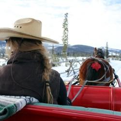 A sleigh ride at snow mountain ranch. Natalie & Rufio. HeidiTown.com