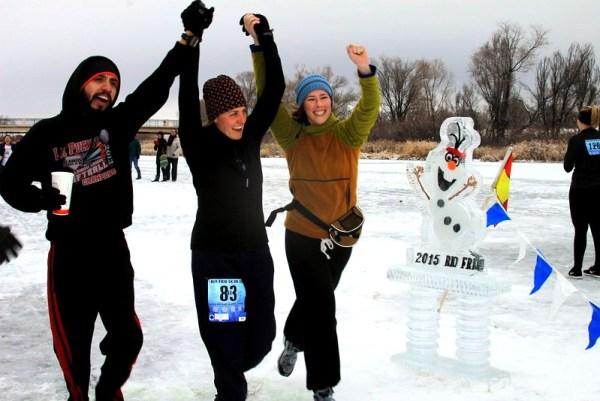 Rio Frio on Ice finish line. Featured Festival, HeidiTown.com