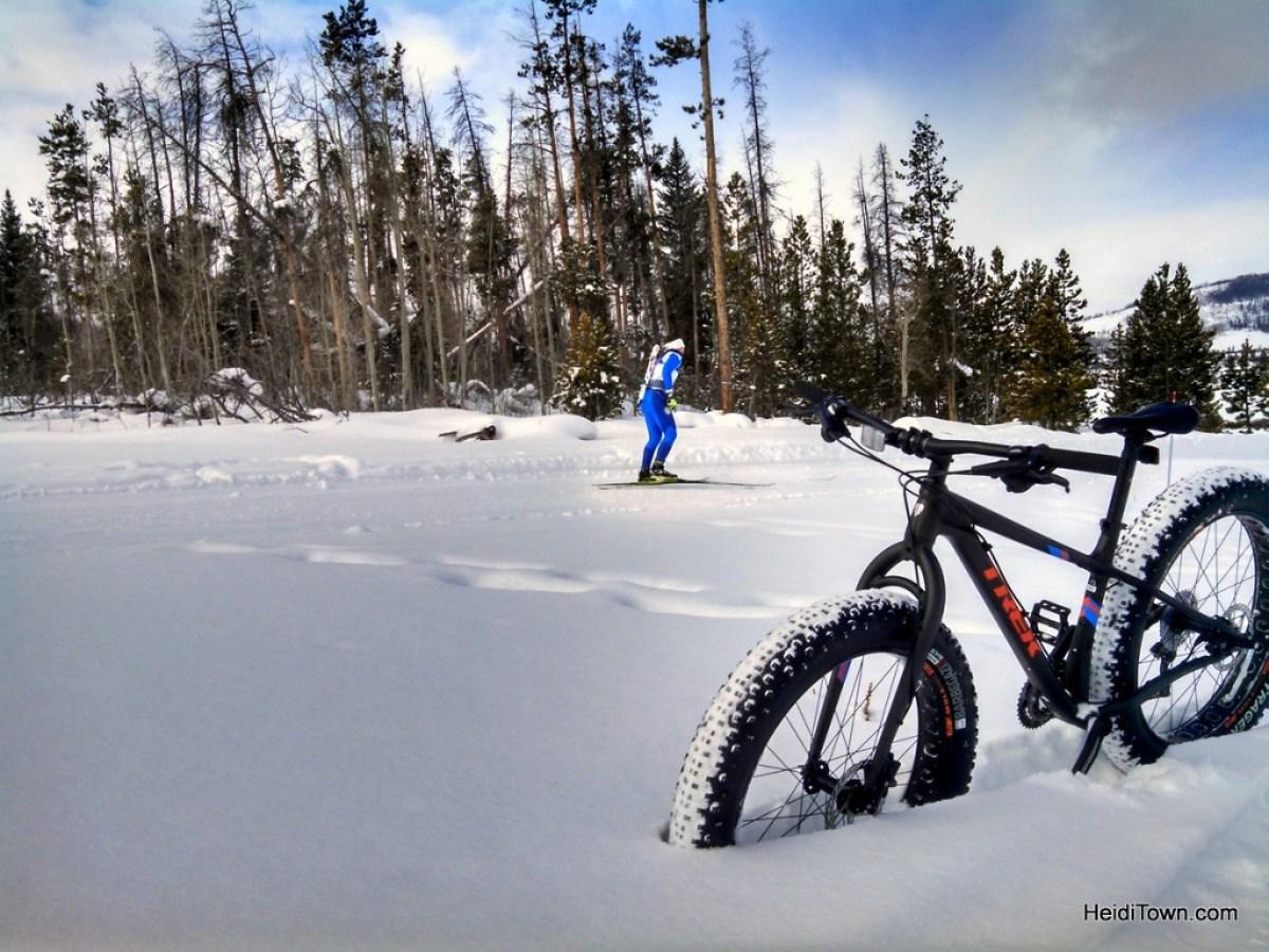 Snow Mountain Ranch, a winter wonderland. Fat biking HeidiTown.com