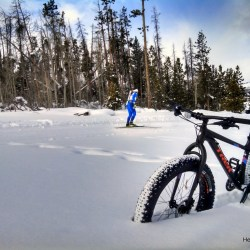 Snow Mountain Ranch, a winter wonderland. Fat biking HeidiTown.com
