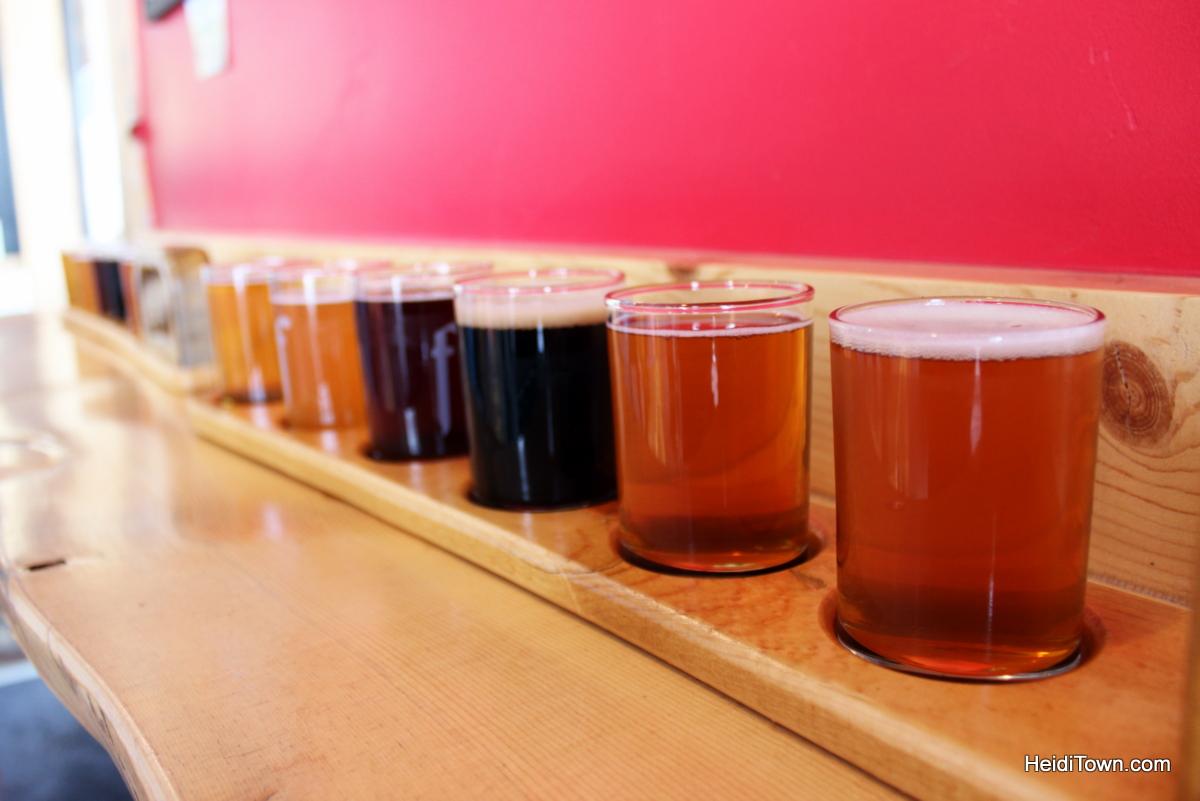 Beers in the Boat Steamboat Springs' exploding beer scene. a taster flight at Butcherknife Brewing Co. HeidiTown.com