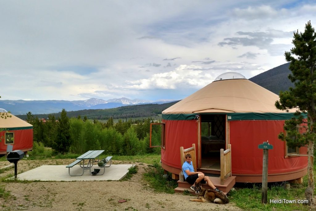 A stay at Yurt Village at Snow Mountain Ranch. Ryan & Xena. HeidiTown.com