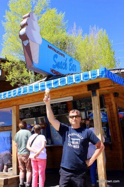 Must-stop Colorado ice cream shops. Miyauchi's in Grand Lake. HeidiTown.com