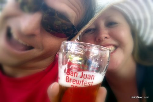 Featured Festival San Juan Beerfest. Cheers shot. HeidiTown.com