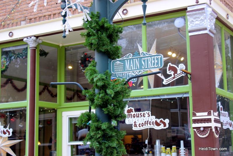 A Holiday Shopping Extravaganza in Ouray, Colorado. Mouse's Chocolates. HeidiTown.com