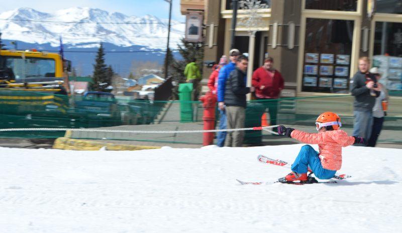 Three Awe-Inspiring Colorado Winter Festivals, Kids Ski Joring Leadville CO 5 - by Lake County Tourism Panel