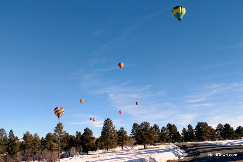A Hot Air Balloon Ride in Pagosa Springs, Colorado with the Dickey Brothers. eight hot air balloons HeidiTown.com