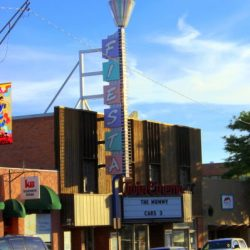 Cortez, Colorado, Blending the Past & Present, Fiesta Theater retro sign. HeidiTown.com