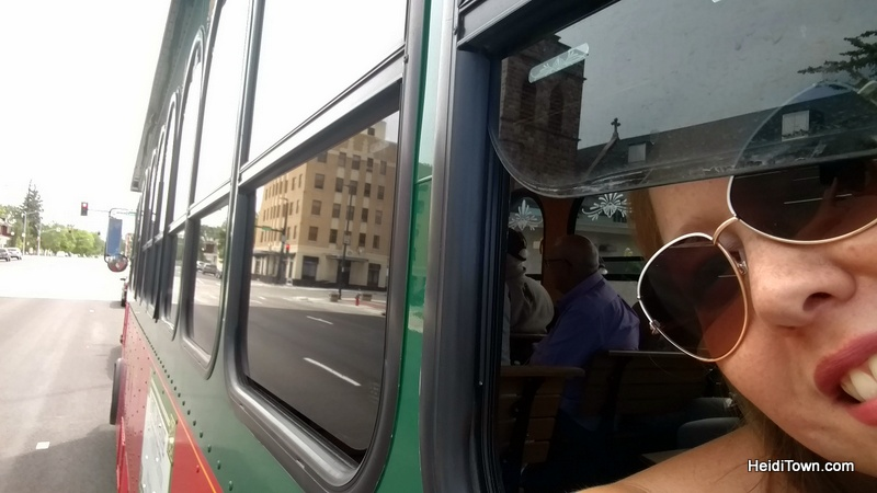 A Jolly Trolley Ride in Cheyenne, Wyoming. Riding the trolley. HeidiTown.com