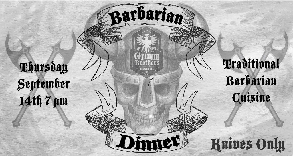 Barbarian Dinner Banner Ad