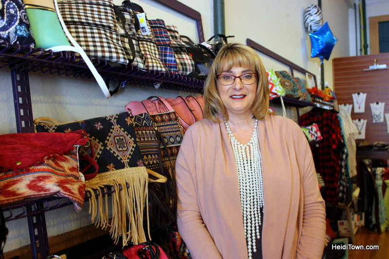 The Mayor Goes Shopping in Downtown Greeley, Colorado. Sassy Bagz. HeidiTown.com