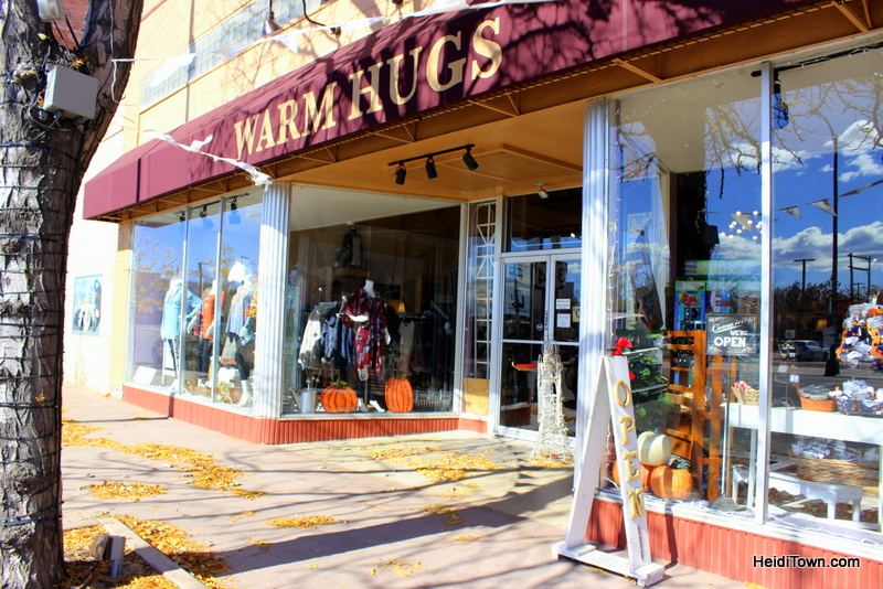 The Mayor Goes Shopping in Downtown Greeley, Colorado. Warm Hugs outside. HeidiTown.com