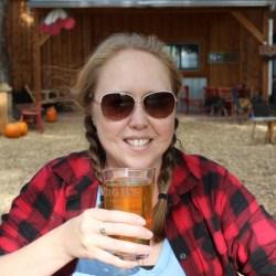 Heidi Kerr-Schlaefer enjoying a cider at Big B's. Photo by Ryan Schlaefer.