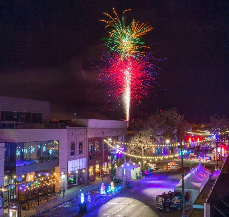 Featured Festival Loveland Fire & Ice 2018, Loveland, Colorado. fireworks. photo courtesy of the festival.