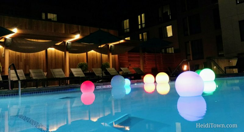 The Birds & the Bees & a Heated Pool at Two New Hotels in Boulder, Colorado. Embassy Suites Boulder pool
