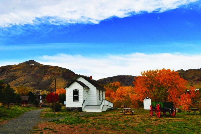 Embrace Fall in Colorado with These Outings. HeidiTown.com Pictured Clear Creek History Park Fall Golden CO