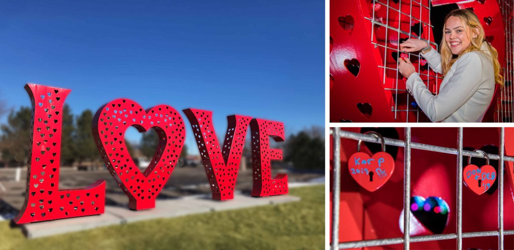 Love Locks Sculpture Visit Loveland Colorado