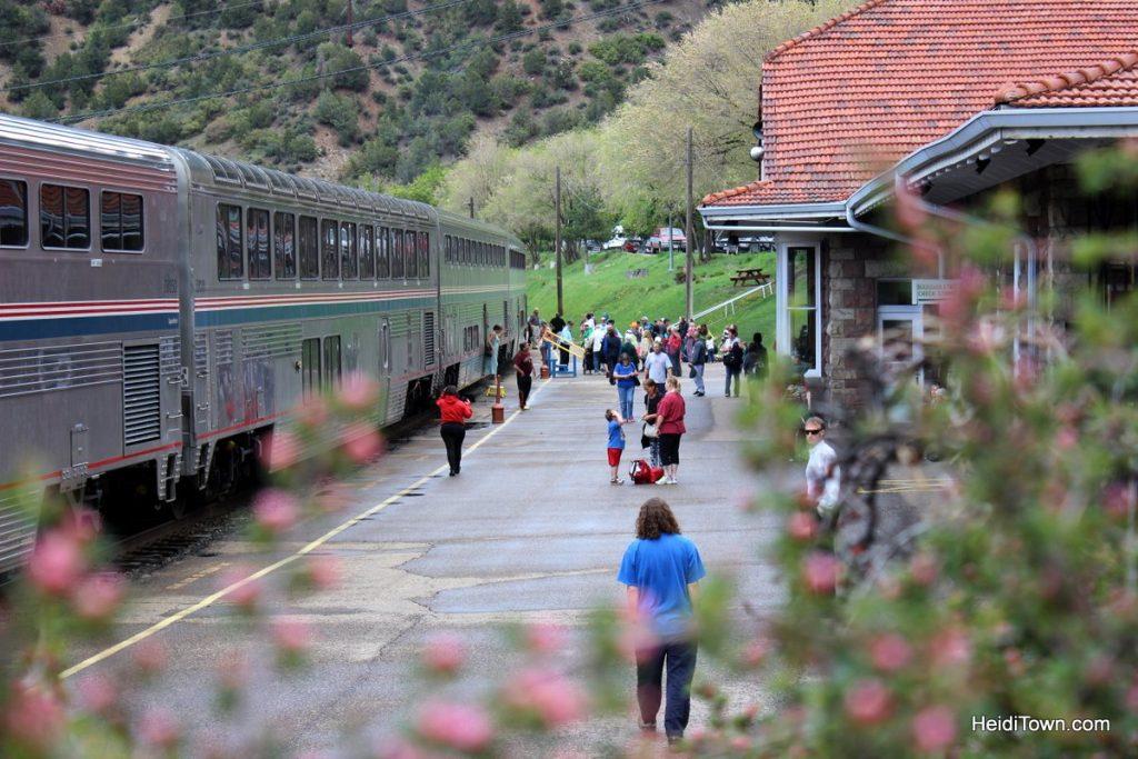 Amtrak arrives at the Glenwood Springs train station. Photo by Heidi Kerr-Schlaefer