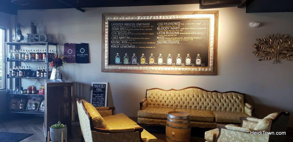 Rising Sun Distillery tasting room in Frisco. HeidiTown
