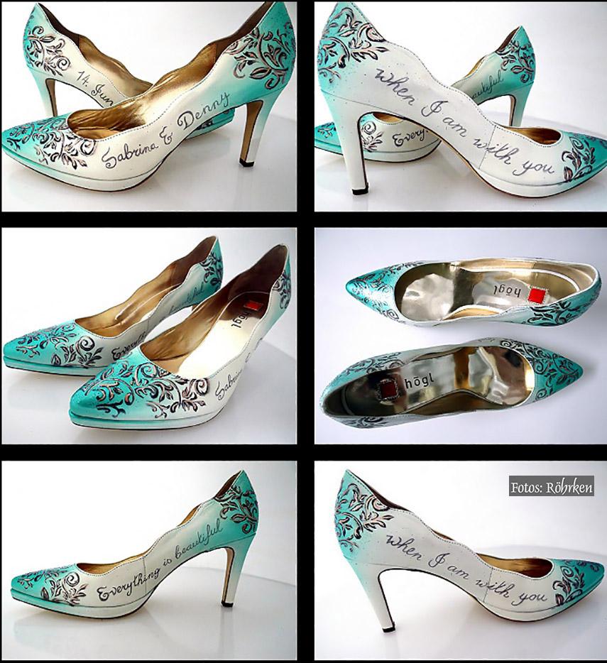 Brautschuhe bemalen lassen Schuhe gestalten