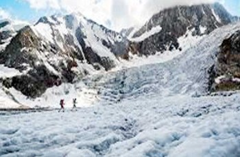 Officials said earthquake burst two glaciers several others cracked in Karakoram mountain.