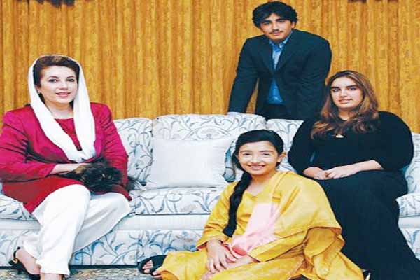 Benazir Bhutto memorial photographs with Bilawal Bakhtawar and Asifa