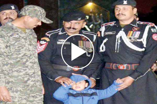 Five-year-old boy crossed Wagah border reunited with mother after one year.