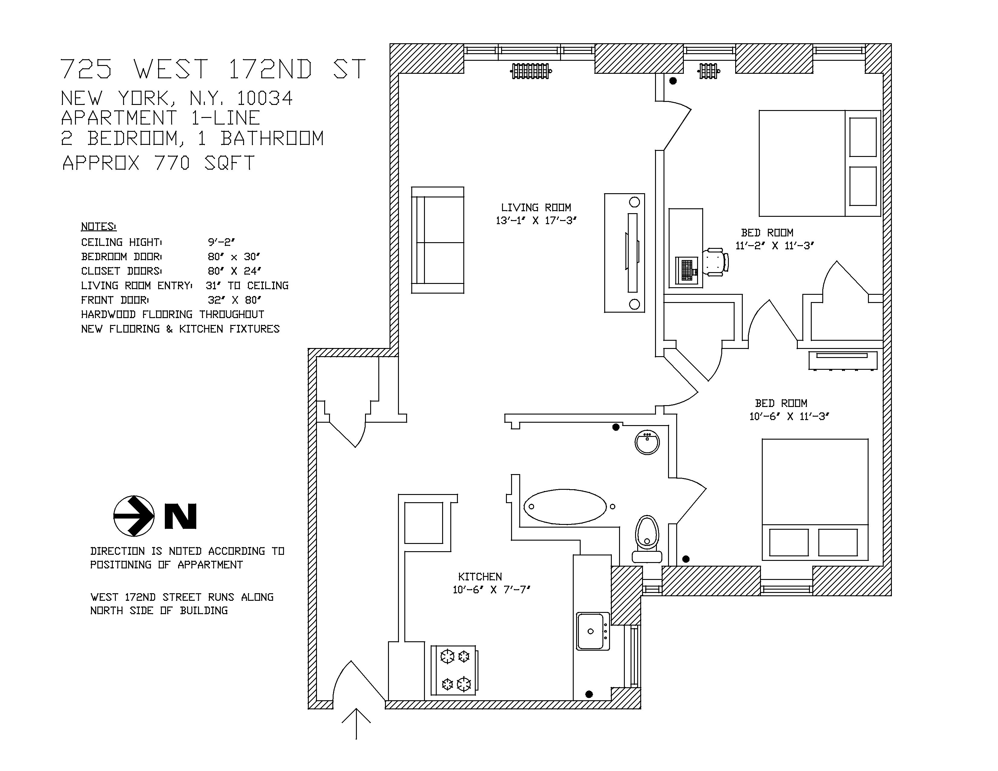 725 W. 172nd St. New York NY 10032-1711 Rent