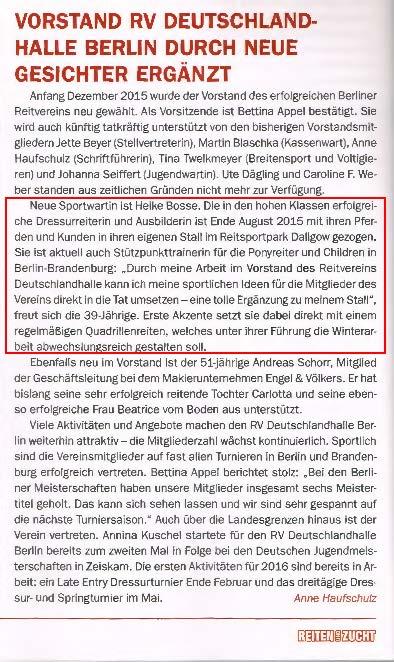 Vorstand RV Deutschlandhalle neue Gesichter