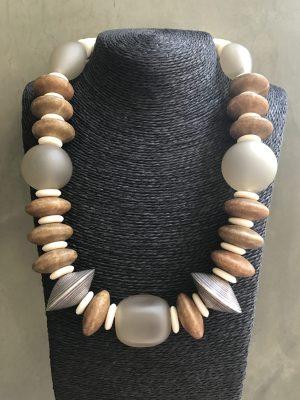 Tone- On -Tone – Single Strand Necklace