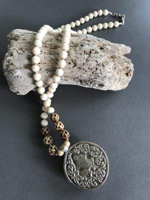 Naga Conch Talisman – Long Single Strand Necklace With Pendant