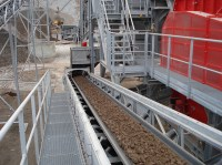Electric arc furnace slag processing installation