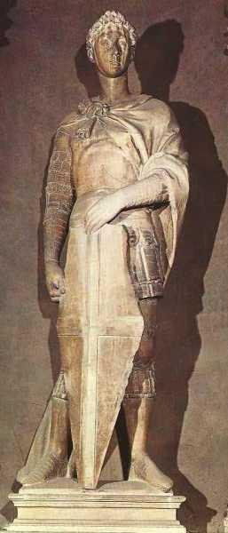 Donatello: Marmorstatue, um 1416, in Orsanmichele in Florenz, heute im Museo Nazionale del Bargello in Florenz