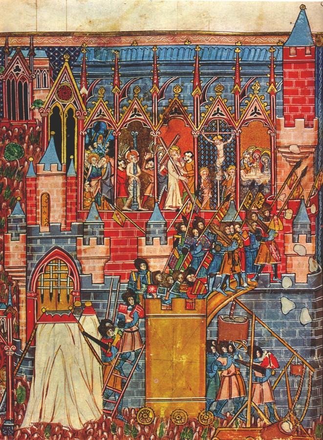 The siege of Jerusalem. Thumbnail XIII century.