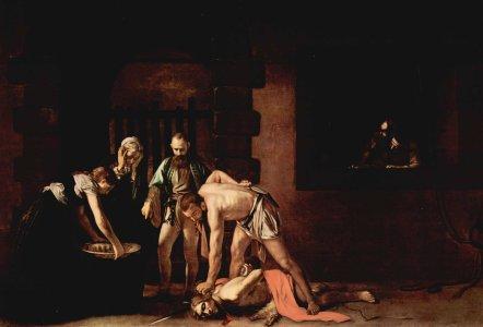 Caravaggio: Johannes' Enthautung, 1608, in der Konkathedrale St John's in Valletta auf Malta