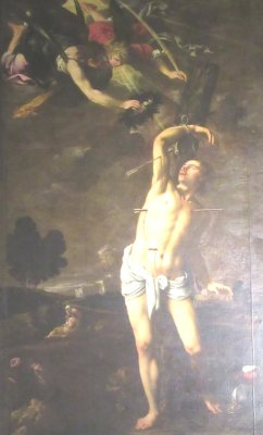 Pedro de Orrente (1580 bis 1645): Sebastians Martyrium, in der Kathedrale in Valencia
