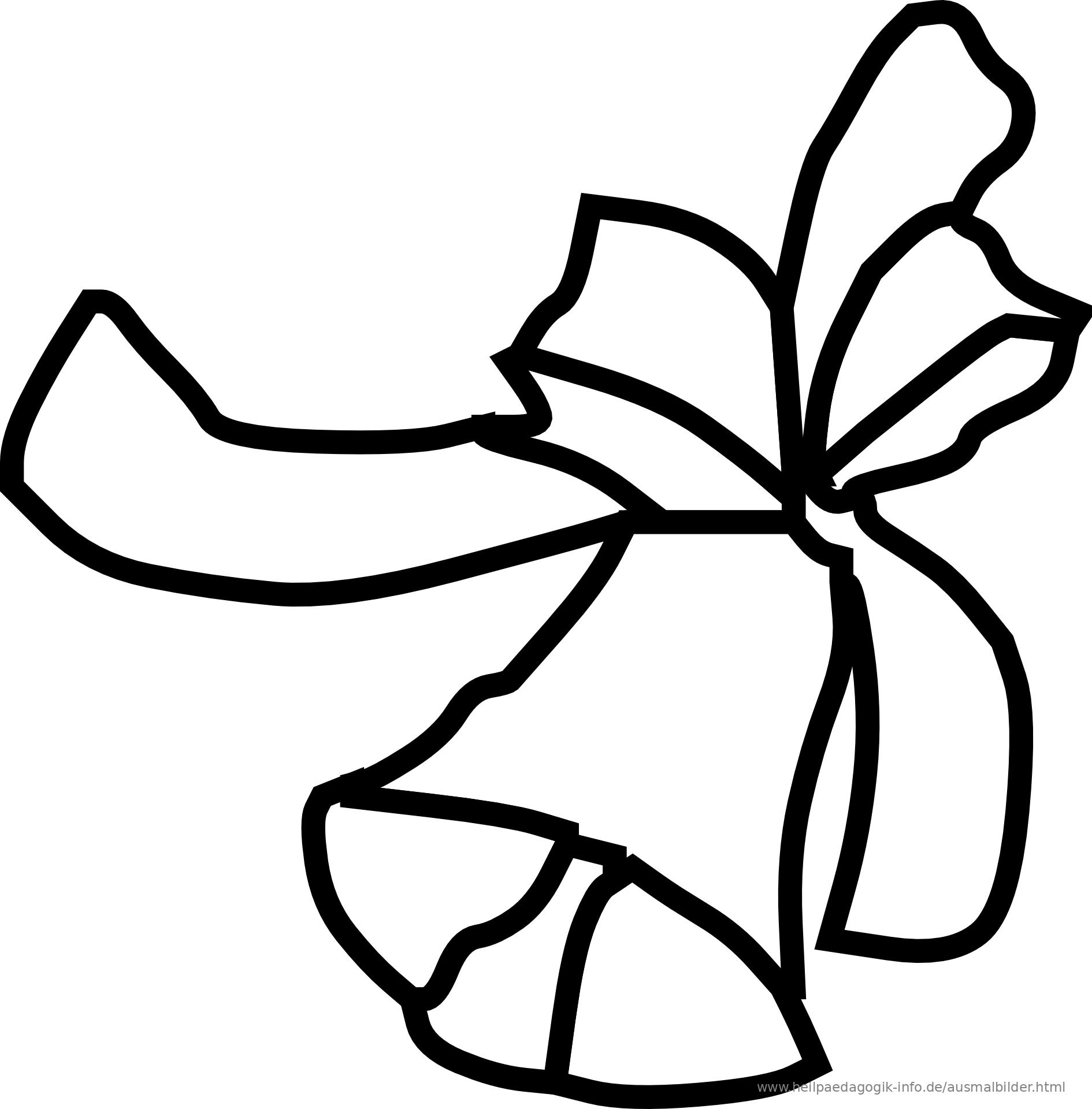 Malvorlage Glocke Weihnachten - Zeichnen und Färben