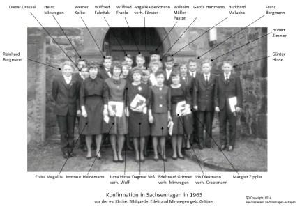 1514 1963 Konfirm Sachsenhagen