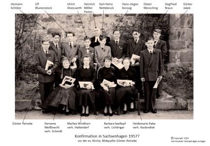 1520 1957 Konfirm Sachsenhagen