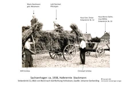 1601 1938 Haferernte Schütze