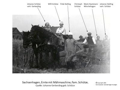 1602 1938 Mähmaschine Schütze Stelling