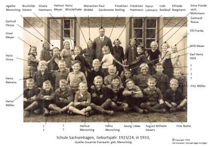 1916 Schulkinder Sachsenhagen 1923-24