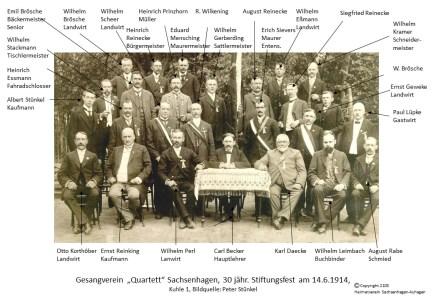 2103 1914 Quartettverein Sachsenhagen
