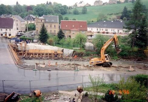 22. Mai 1996. Die Brücke ist abgerissen.