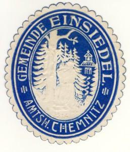 Historisches Gemeindesiegel Einsiedel 1914