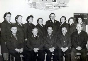 2 Postangestellte Postamt Einsiedel 1967 (2) 600