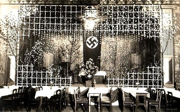 Drei Eichen Saal im Dritten Reich