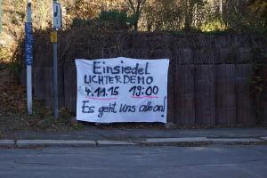 Schweigemarsch in Einsiedel am 4.11.15